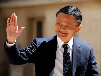 Jack Ma, fundador da Alibaba em uma reunião em Paris, França, em maio de 2019.