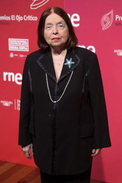 A escritora Nélida Piñon na segunda-feira em Madri.
