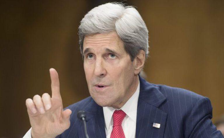 John Kerry, durante uma audiência no Senado.