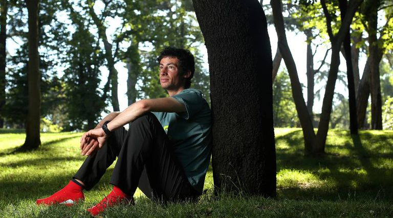 Kilian Jornet, no Parque do Retiro, em Madri.