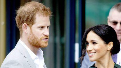 Meghan Markle e o príncipe Harry da Inglaterra.