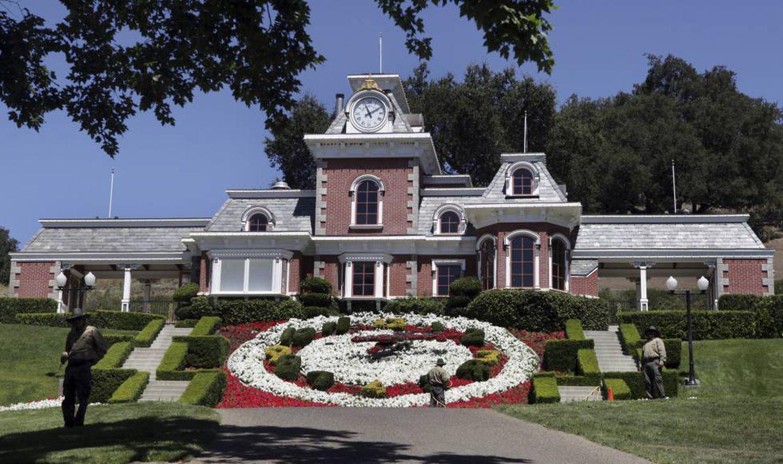 A casa principal de Neverland, em 2009.
