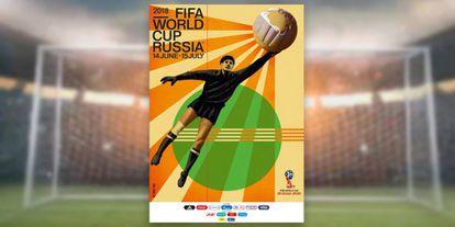 O poster retrô da Copa foi divulgado nesta terça-feira.