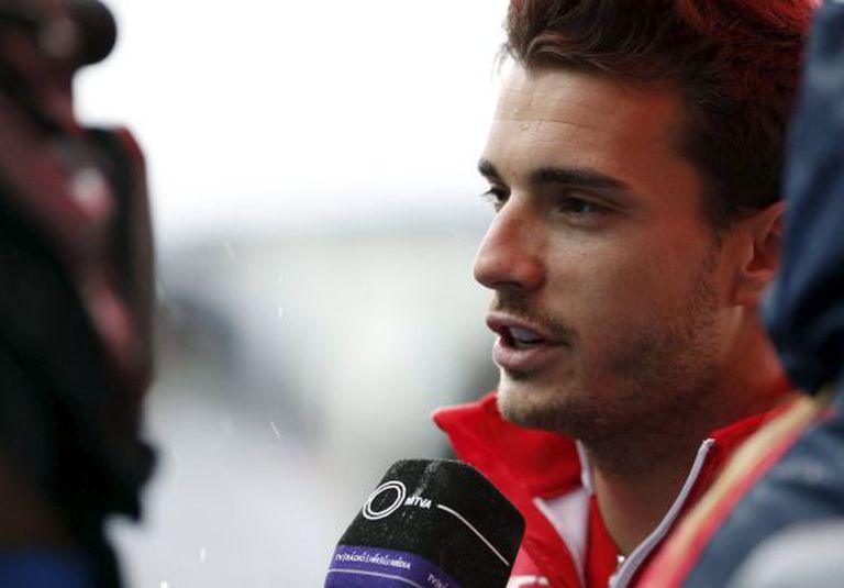 O piloto francês Jules Bianchi, durante uma entrevista.