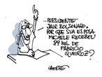A cartunista Laerte desenhou a pergunta para o presidente Bolsonaro que ganhou o Twitter.
