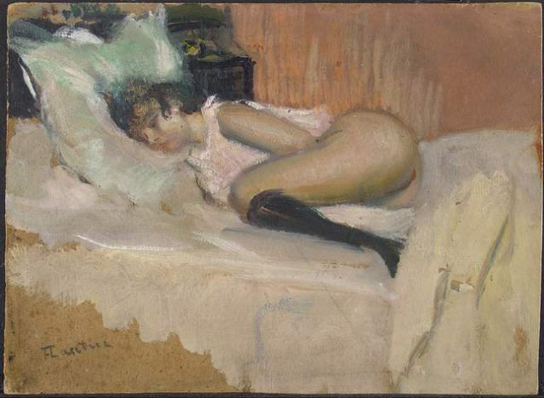 'Femme Nue Allongée', de Toulouse-Lautrec.