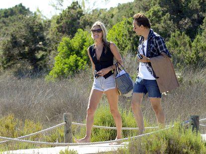 Kate Moss e Jamie Hince, em Formentera.