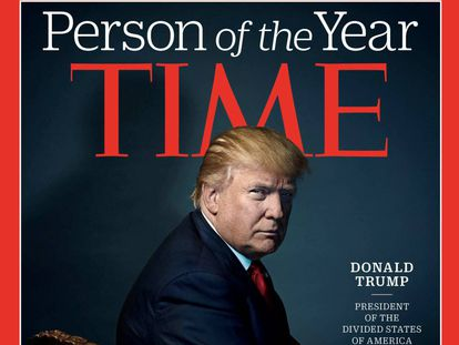 Capa da 'Time' com a escolha de Trump como personalidade do ano.