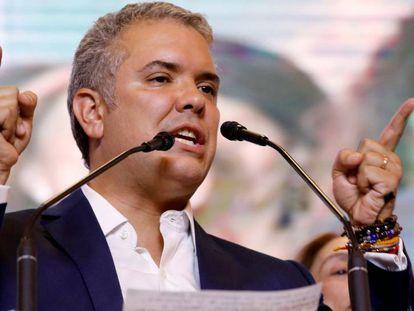 Iván Duque, eleito presidente da Colômbia.