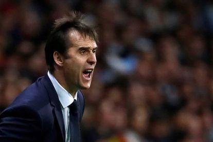 Julen Lopetegui durante um jogo com a seleção espanhola.