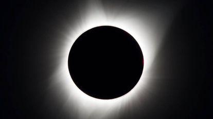 Imagem do eclipse total