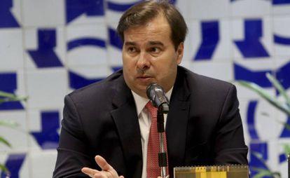 O presidente da Câmara, Rodrigo Maia (DEM-RJ), em Brasília.
