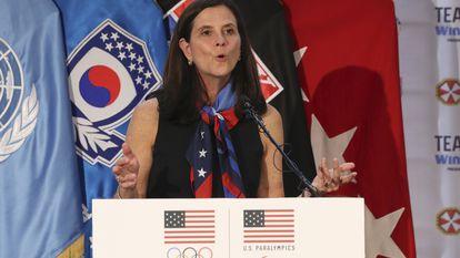 A comissária da Liga Feminina de Futebol dos EUA, Lisa Baird