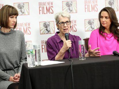 Rachel Crooks, Jessica Leeds, and Samantha Holvey, sopostas vítimas de assédio sexual de Donald Trump.