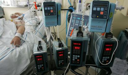 Foto de arquivo de um paciente de hospital.