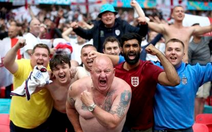orcedores no estádio Wembley, em 29 de junho.