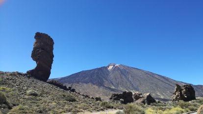 O pico Teide, ponto culminante da Espanha.