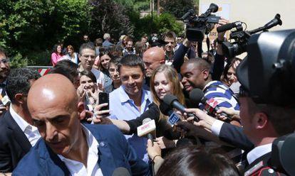 Renzi, no Festival da Economia de Trento no dia 1º de junho.