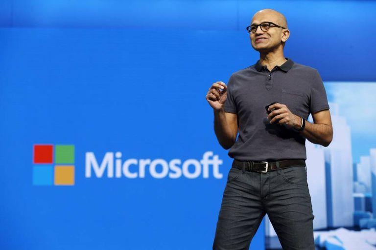CEO da Microsoft, Satya Nadella, no último dia 30 de março.