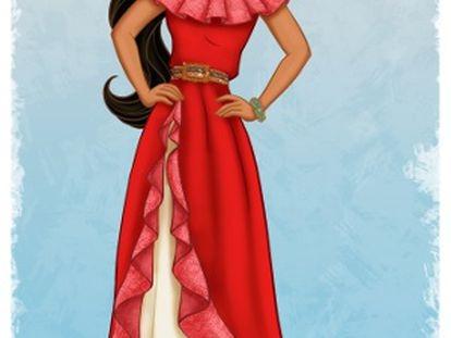 Imagem da princesa hispânica da Disney.