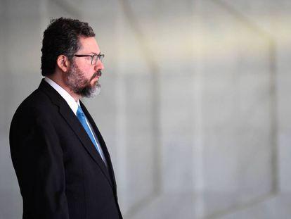 O ministro Ernesto Araújo, em Brasília no dia 5.