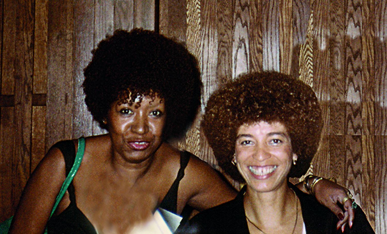 Lélia Gonzalez e Angela Davis nos Estados Unidos, em 1984.