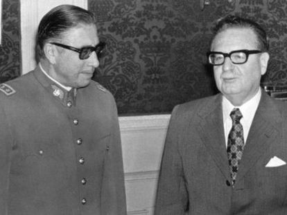 Augusto Pinochet e Salvador Allende, em 23 de agosto de 1973.