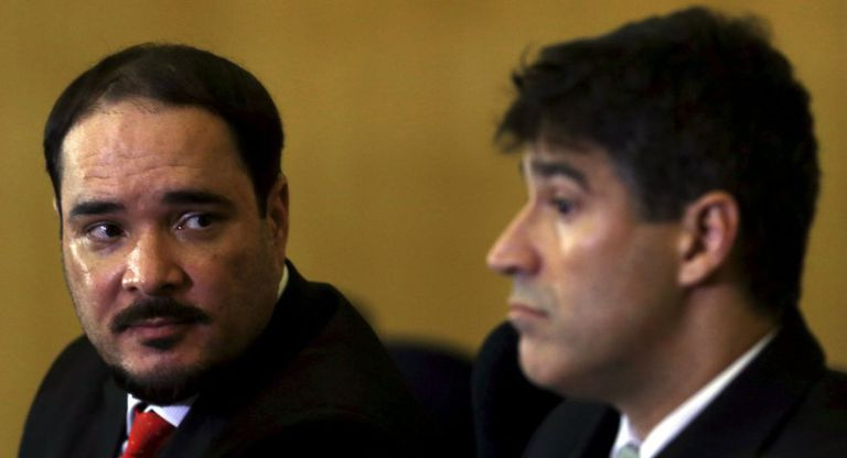 Cassio Roberto Conserino (dir.) e Fernando Henrique de Moraes Araujo, na coletiva desta quinta.