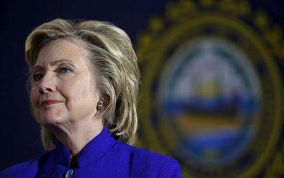 Hillary Clinton, na terça-feira em um ato eleitoral