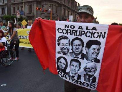 Manifestante contra a corrupção