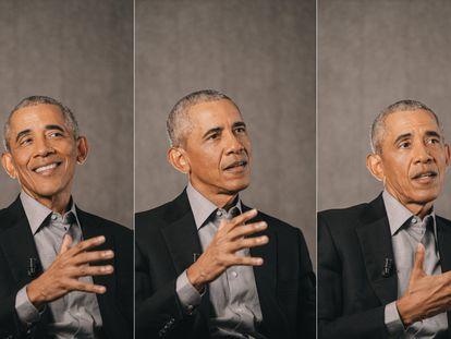 O ex-presidente Barack Obama durante entrevista ao EL PAÍS.