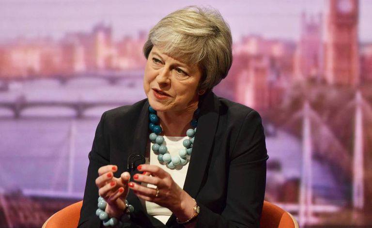 A primeira-ministra britânica Theresa May em entrevista À BBC na quinta-feira.