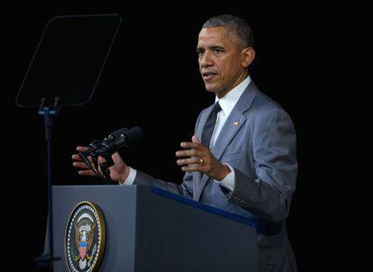 Barack Obama discursa nesta terça, em Havana.