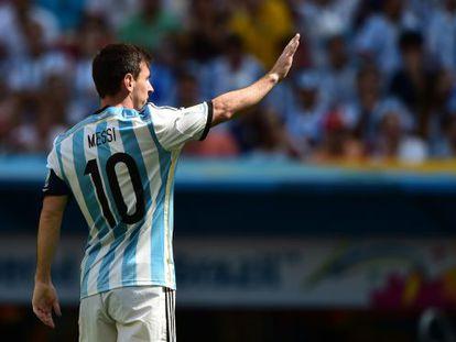 Messi na partida das quartas de final contra a Bélgica, no último dia 5.