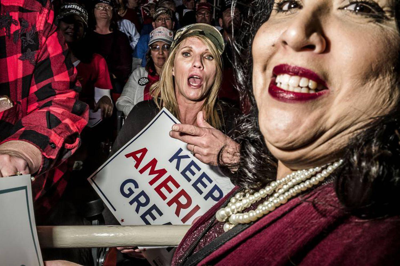 Comício de Donald Trump na Carolina do Norte.