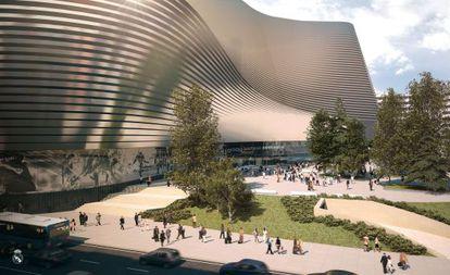 Projeção virtual do novo estádio.