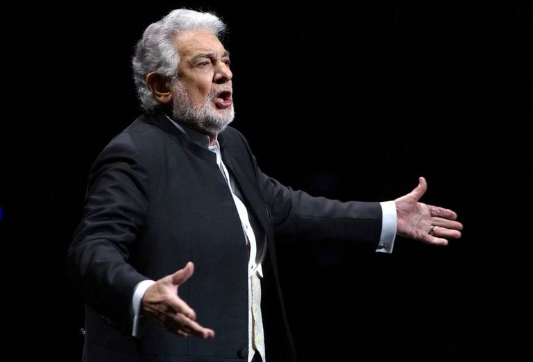 Plácido Domingo, durante a apresentação de 'I Due Foscari', de Verdi, no Teatro Real de Madri, em julho de 2016.
