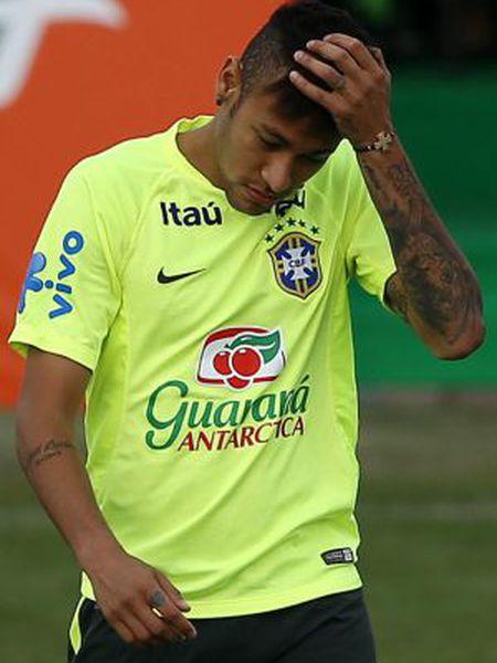 Neymar, durante o treino de sexta-feira.
