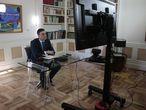 Pedro Sánchez preside por videoconferencia la reunión interministerial para el seguimiento de medidas por el coronavirus.