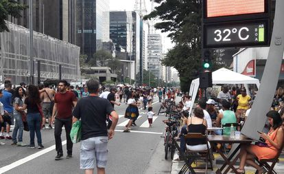 Avenida Paulista em um domingo de novembro de 2016.