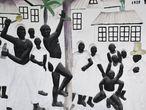 Mural en un convento de Puerto Príncipe