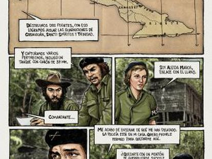 Tirinha de 'Che, Uma Vida Revolucionária'.