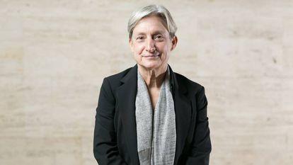 A filósofa norte-americana Judith Butler durante uma visita a Barcelona, em 2018.