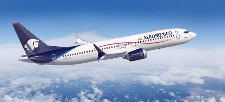 Avião da Aeroméxico, uma das linhas aéreas sancionadas pela Venezuela.
