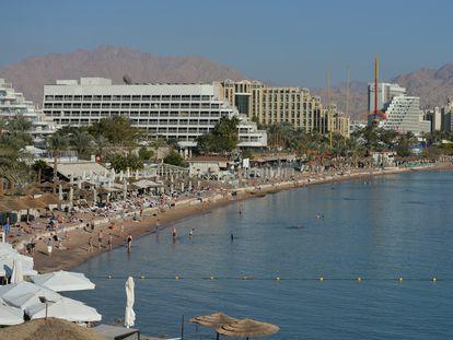 Vista de Eilat, em Israel, onde ocorreu o estupro grupal.