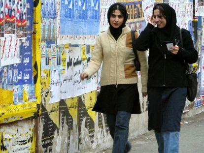 Mulheres nas ruas de Teerã.