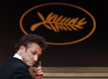 Sean Penn, ao chegar à cerimônia de inauguração do Festival de Cannes em 2019.