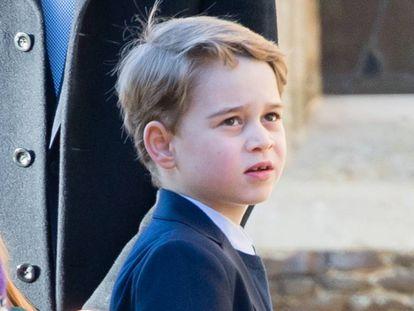 George de Cambridge em 25 de dezembro de 2019, na missa de Sandringham.