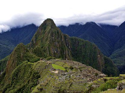 Panorâmica da cidadela inca de Machu Picchu, no Peru.