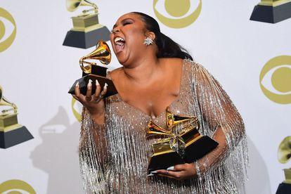 Lizzo, com o prêmio de melhor interpretação solista pop.